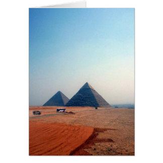 dos pirámides tarjeta de felicitación