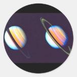Dos planetas de Saturn Pegatina Redonda