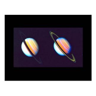 Dos planetas de Saturn Tarjetas Postales
