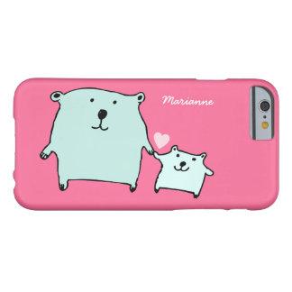 Dos poco amor lleva el caso rosado del iPhone 6 Funda Para iPhone 6 Barely There
