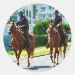 Dos policía montada pegatina