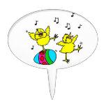 dos polluelos y pascuas de baile egg.png decoraciones de tartas
