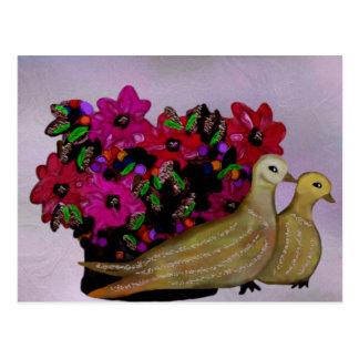 Dos postales de las palomas de la tortuga