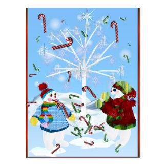 Dos postales de los muñecos de nieve