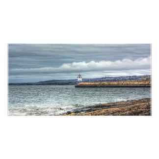 Dos puertos Breakwall Tarjeta Fotografica