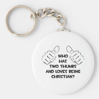 Dos pulgares. Amores que son cristianos Llavero Personalizado