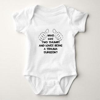 Dos pulgares. Cirujano del trauma Body Para Bebé
