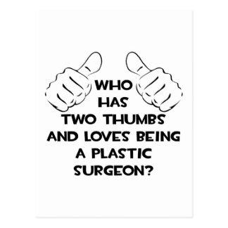 Dos pulgares. Cirujano plástico Postal