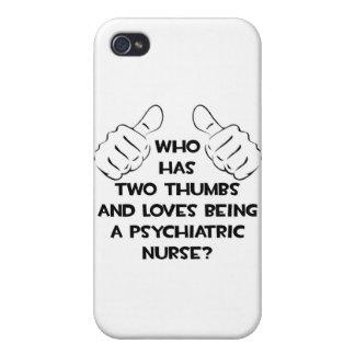 Dos pulgares. Enfermera psiquiátrica iPhone 4 Cárcasa