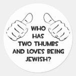 Dos pulgares. Judío Pegatina