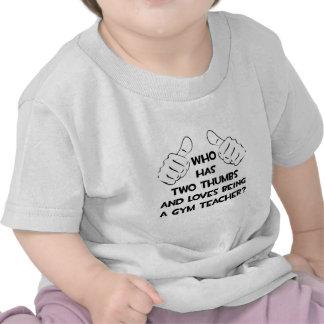 Dos pulgares. Profesor de gimnasio Camisetas