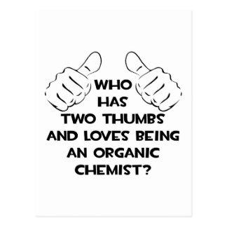 Dos pulgares. Químico orgánico Tarjeta Postal