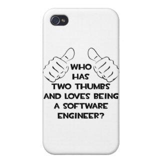 Dos pulgares, Software Engineer iPhone 4 Cárcasa