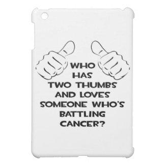 Dos pulgares y aman alguien cáncer de lucha