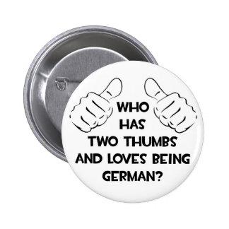 Dos pulgares y amores que son alemanes pin redondo 5 cm