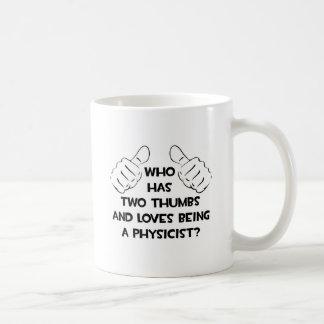Dos pulgares y amores que son un físico taza