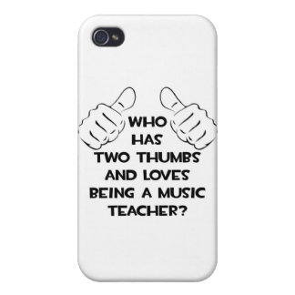 Dos pulgares y amores que son un profesor de músic iPhone 4 protectores