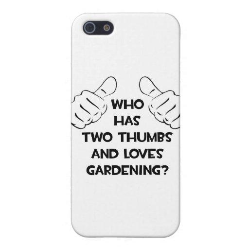 Dos pulgares y cultivar un huerto de los amores iPhone 5 cárcasa