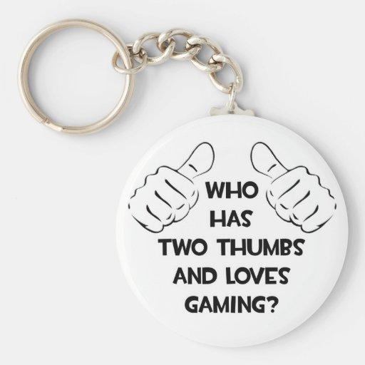 Dos pulgares y juegos de los amores llavero personalizado