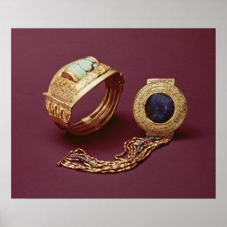 Dos pulseras, de la tumba de Tutankhamun Póster