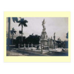 Dos puntos de Cementerio, Habana, vintage de Cuba Tarjetas Postales
