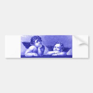 Dos querubes etiqueta de parachoque