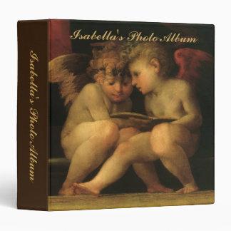 "Dos querubes que leen por Rosso Fiorentino Carpeta 1 1/2"""