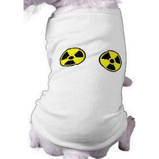 Dos radiactivos playera sin mangas para perro