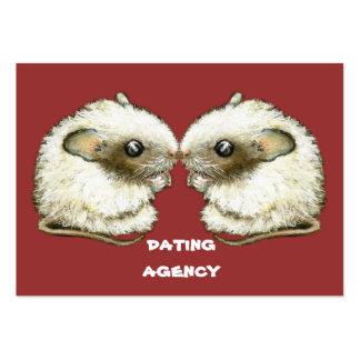 dos ratones que se besan tarjetas de visita grandes