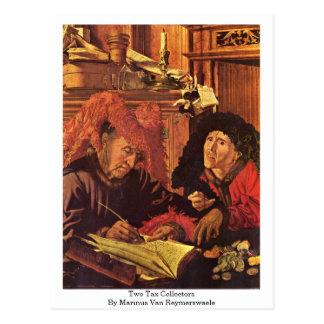Dos recaudadores de impuestos de Marinus Van Reyme Tarjetas Postales