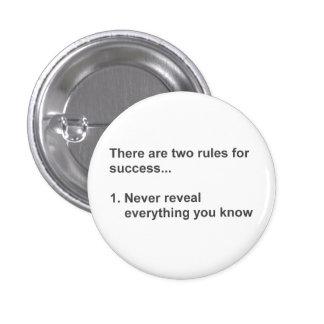 Dos reglas para el éxito revelador pin