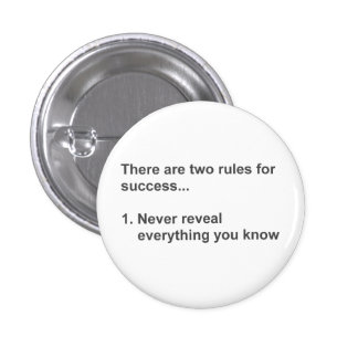 Dos reglas para el éxito revelador pin redondo de 1 pulgada
