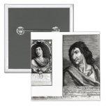 Dos retratos de Savinien Cyrano de Bergerac Pins