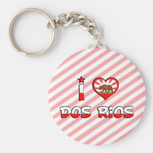DOS Rios, CA Llavero Redondo Tipo Pin