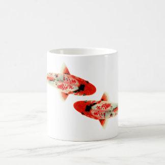 Dos rojo Koi Tazas De Café