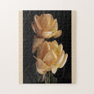 Dos, rosas amarillos, rompecabezas