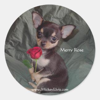 Dos rosas hermosos pegatina redonda