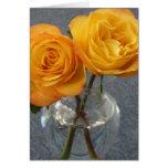 Dos rosas para usted tarjeta de felicitación