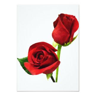 Dos rosas rojos anuncios
