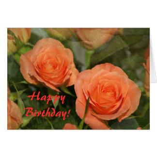 Dos rosas tarjeta de felicitación