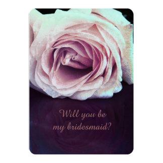 """dos rosas - usted será mi dama de honor invitación 5"""" x 7"""""""