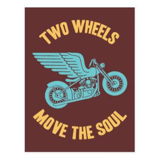 Dos ruedas tarjetas postales