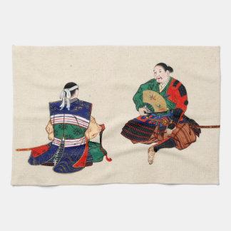 Dos samurai 1878 toallas de cocina
