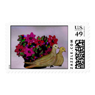 Dos sellos de las palomas de la tortuga