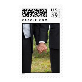 Dos sellos de los novios