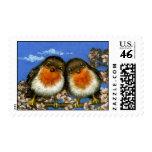 Dos sellos de los petirrojos por el enlace de Tani