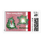 Dos sellos del navidad del kiwi del dibujo animado