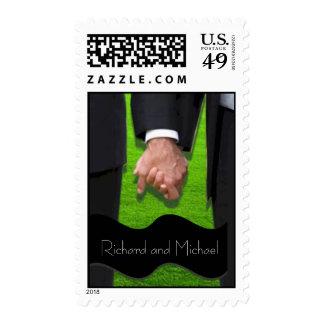 Dos sellos gay de encargo del boda de los novios