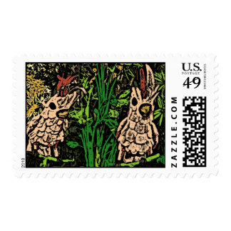 Dos sellos tropicales de los pájaros