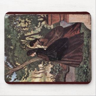 Dos señoras en el jardín de Castiglioncello Alfombrilla De Ratón